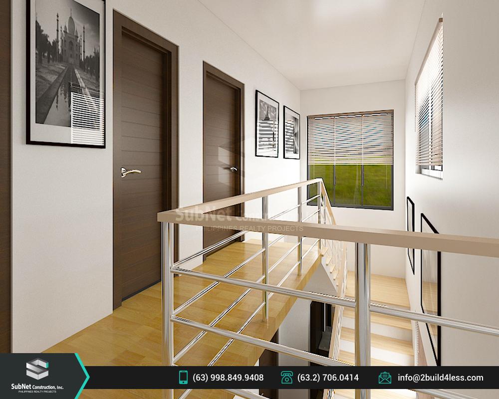 Second floor stairway of Jordan model house