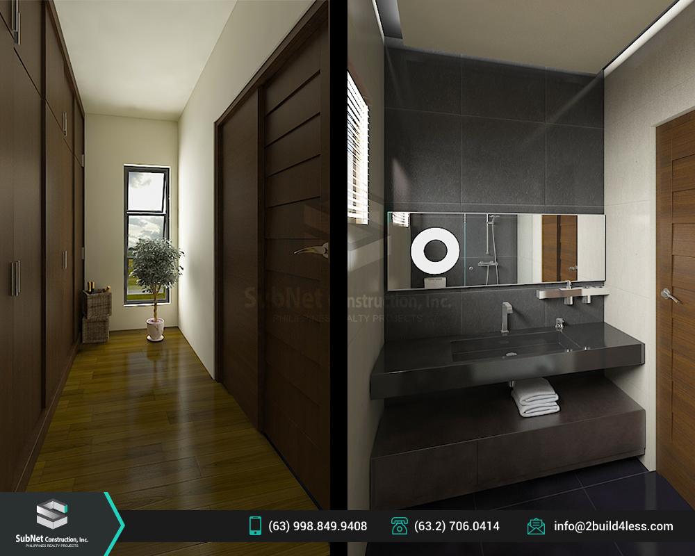 Master's bedroom toilet and bath of Jordan model house
