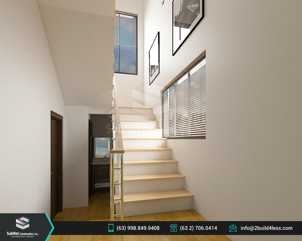 Ground floor stairway of Jordan model house