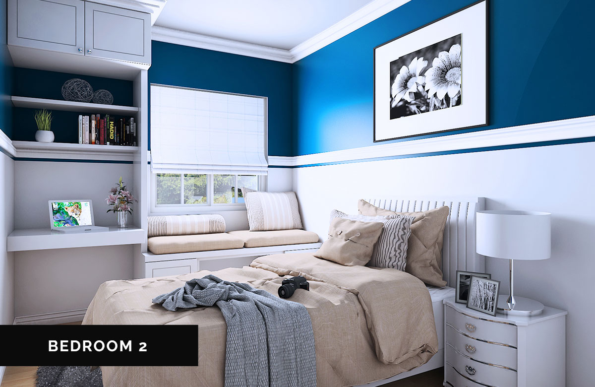 One of the bedrooms of Singapore model house